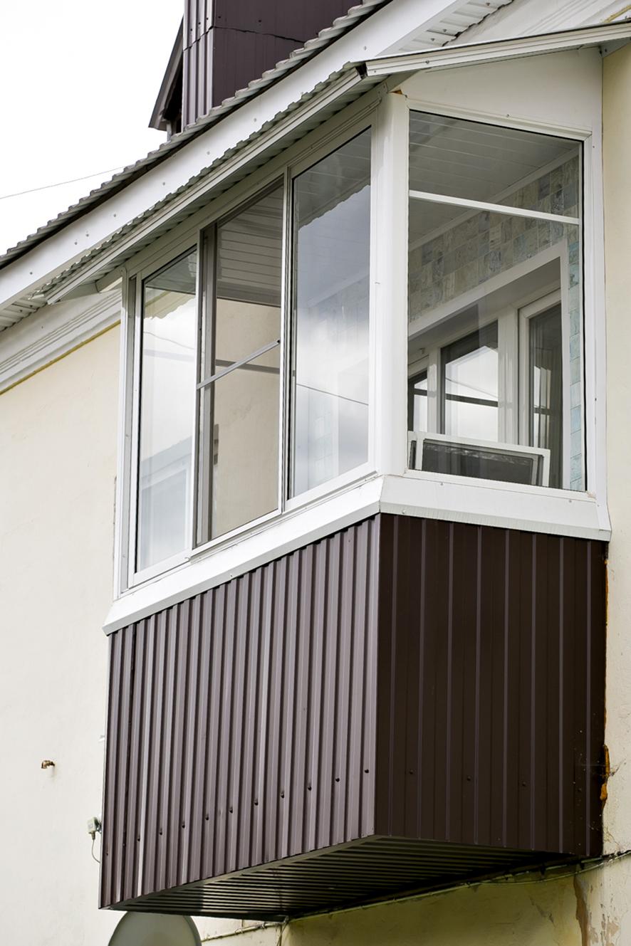 Фото отделки и остекления балконов в воронеже.