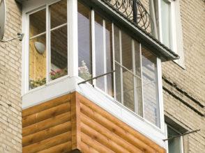 Расширение пола балкона на 30 см вперед.