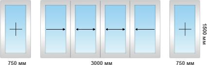 Рама на алюминиевом профиле 6 секций
