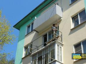 Остекление балкона с расширением пола