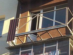 Балкон над пропастью «Под ключ» — Установка капитального металлического каркаса